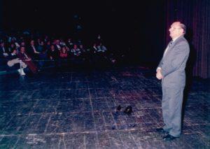 ראש העיר חיפה לשעבר, מר אריה גוראל, בערב גאלה לכבוד ניצן חיפה